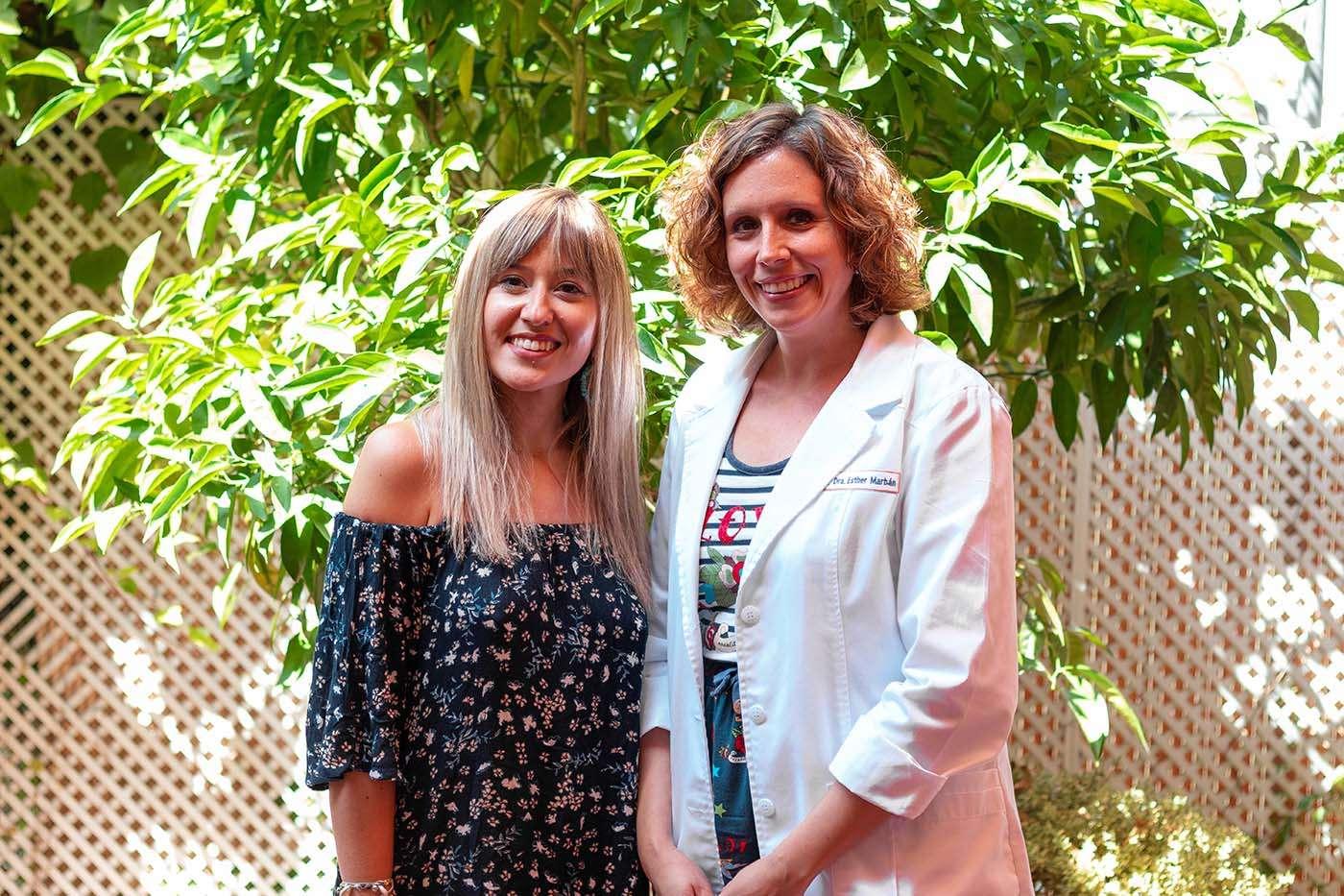 Lorena Córoles y Dra. Esther Marbán