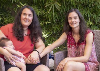 Verónica y Evelyn tambre